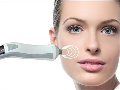 Foto del tratamiento de estética facial de R200 radiofrecuencia